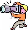 Cartoon of a Little Boy Using a Camera clipart