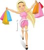 Sexy Girl Going on a Shopping Spree clipart