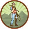 Occupation Icon of a Gold Miner clipart