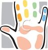 Hand with Paint on the Fingers clipart