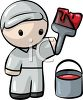 Cute Little Man House Painter clipart