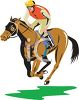 Jockey on a Racehorse clipart