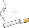 Bent Cigarette clipart