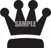 Silhouette of a Crown clipart