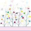 Valentine's Day Background of Trees with Heart Shaped Leaves clipart