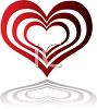 Open Heart with It's Reflection clipart