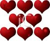 St Valentine's Day Background of Grunge Hearts clipart
