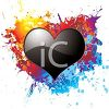 Glossy Heart on a Paint Splatter clipart
