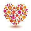 St Valentine's Day Background of a Heart Made of Flowers clipart