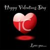 Happy Valentine's Day Background with Love You clipart