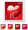 Heart Stamps Collection clipart