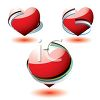 Set of Glossy Heart Icons clipart