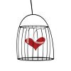 Heart Inside a Bird Cage clipart
