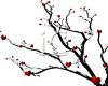 Red Hearts on a Dead Tree Branch clipart
