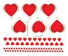 Red Hearts Valentine Banner clipart