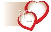Red and White Hearts Wedding Design clipart