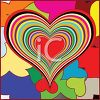 Day Glow Retro '70s Heart Design clipart