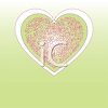 Lacy Heart Design on a Gradient Background clipart