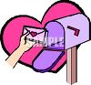 Person Putting a Love Letter In a Mailbox clipart