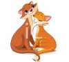 Orange Cats Snuggling in Love clipart