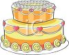 Fancy Valentine Cake with Layers clipart