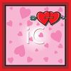 Valentine Background with Hearts Shot Through with an Arrow clipart