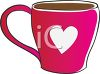 Valentine Coffee Cup Decorated with a Heart clipart