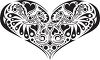 Heart Design in Black and White clipart
