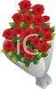 Bouquet of Red Roses for a Special Occasion clipart