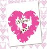 Valentine Card with a Heart and I Love You Text clipart