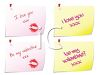 Little I Love You Notes Pinned to a Wall clipart