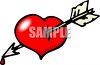 Dripping Arrow Through a Heart clipart