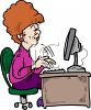 Fast Typist Cartoon clipart