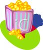 Carton of Buttered Popcorn clipart
