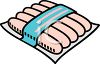 Package of Hot Dogs clipart