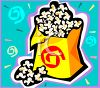 Theater Popcorn in a Bag clipart