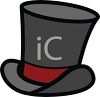 Cartoon Top Hat with a Red Band clipart