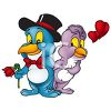Cute Cartoon Birds in Love clipart