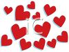 Red Hearts Design for Valentine's Day Love clipart