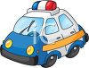 Cartoon of a Toy Police Cruiser clipart