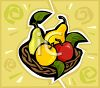 Fruit Basket of Apples and Pears clipart