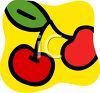 Cherries Design in Bright Colors clipart