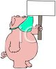 Cartoon of a Pig Wearing a Face Mask to Prevent Sickness clipart