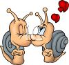 Kissing Snails for Valentine's Day clipart
