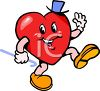 Cartoon Heart Singing and Dancing clipart