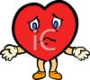 Sad Heart Yearning for Love clipart