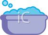 Baby Bathtub Filled with Bubbles clipart