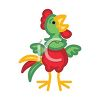 Bright Colored Chicken clipart