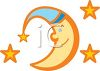 Moon and Stars Design clipart