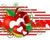Hearts with an Apple and Stripes Valentine Design clipart